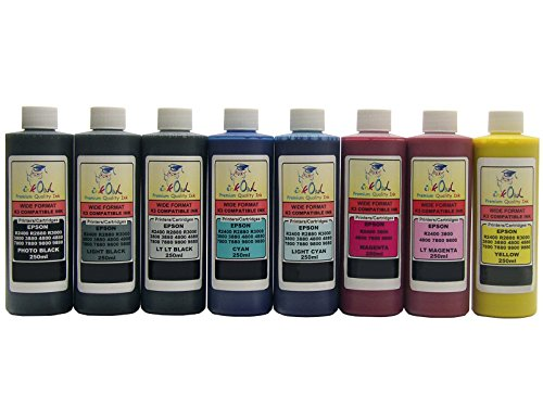 (InkOwl Bulk Pigment Ink for use in EPSON Stylus Pro 4800, 7800, 9800 (8x250mL))