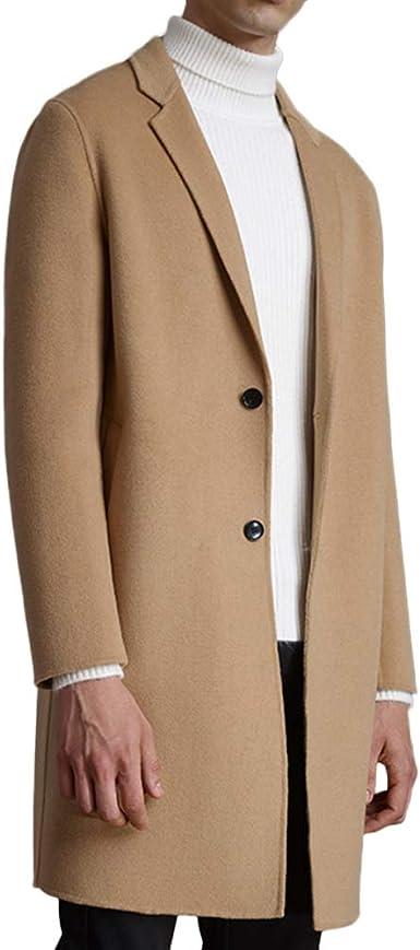 Manteau De Costume en Laine pour Hommes Manteau à Simple