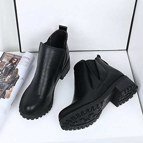 Heels D'Hiver OVERMAL Handsome Martin Womens Bottes Bottes Bottines Faible Pw40qC7x4