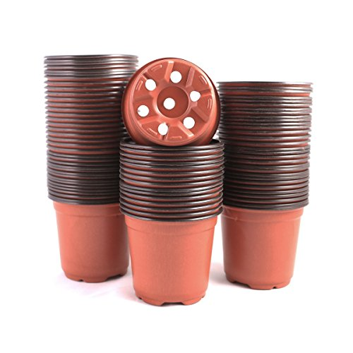 YIKUSH 100 Pcs Plants Nursery Pots Seeding Nursery Pot, Reusable Plastic Plants Nursery Pots Seeding Flower Plant Container Seed Starting Pots by YIKUSH