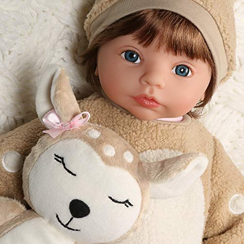 Paradise Galleries Reborn Toddler Girl - Dearly Loved, 19 inch Realistic Doll in GentleTouch Vinyl & Weighted Body, 5-Piece Gift Set ()