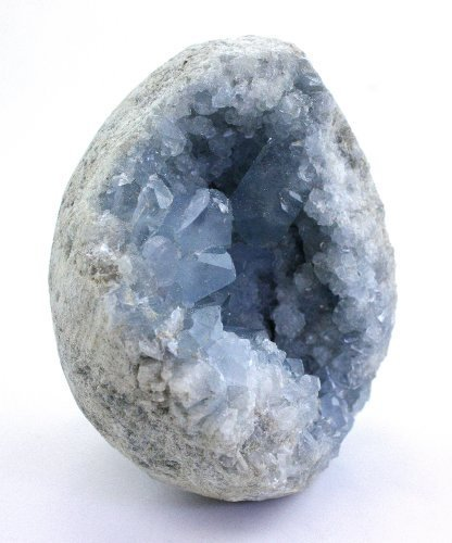 Crystal Allies Specimens: Natural Blue Celestite Crystal Cluster from Madagascar - 1lb to 2lb