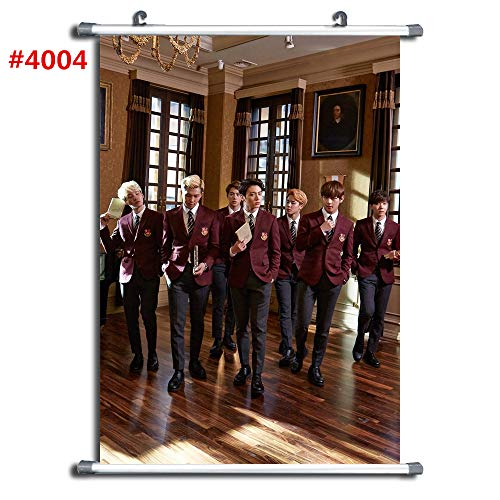 4004 Kpop BTS Bangtan Boys Anime Manga Wall Poster Scroll Ro