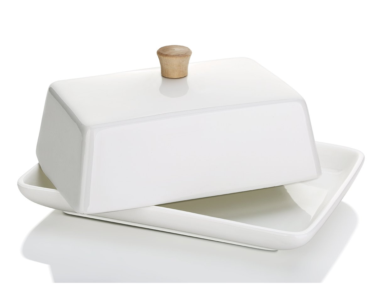 DOWAN Porcelain Butter Dish with Lid for East/West Butter Sihai 10106160719001