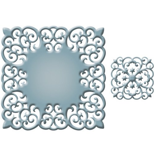 Cut Medallion (Spellbinders S5-224 Victorian Medallion Three Die Template)