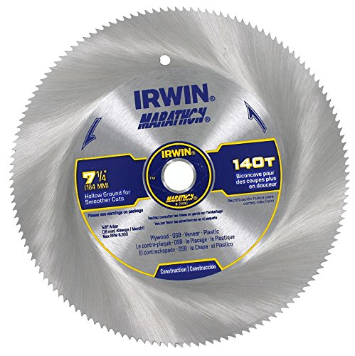 IRWIN Tools Classic Series Steel Corded Circular Saw Blade, 7 1/4-inch, 150T, .087-inch Kerf (11440)