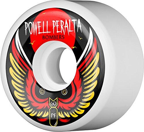 - Powell-Peralta Bombers 2 60mm 85A White Skateboard Wheels