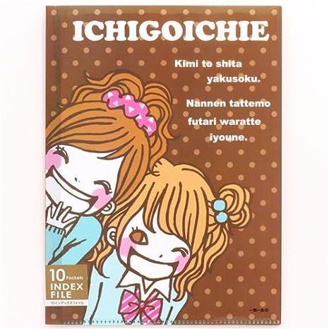 Carpeta archivador 10 fundas A4 /A3 niña anime japonés pardo: Amazon.es: Oficina y papelería