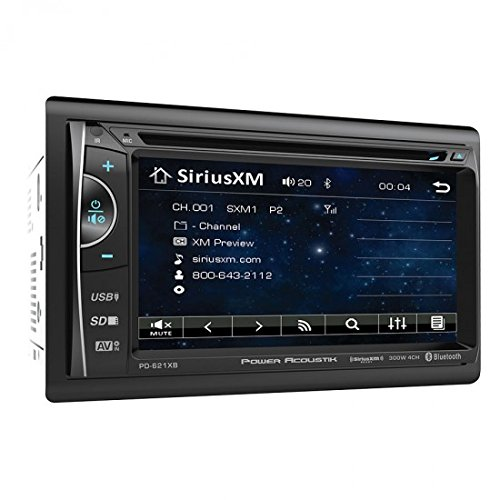 Power Acoustik PD-621XB 2-DIN Source Unit with SXM Interface/Bluetooth/6.2