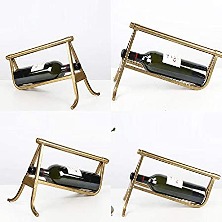 Furniture Botellero sobre encimera, Botellero Decorativo Minimalista para El Hogar Decoración de Botellero de Hierro Forjado, Adecuado para Sala de Estar Porche vinoteca Bar