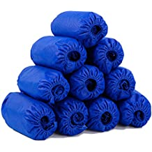 Disposable Shoe Covers Fitted for All Men & Women All Indoor & Outdoor for Floor/Shoes Protection 100 Packs No.1 Practical Home Workplace Partner Sky Blue