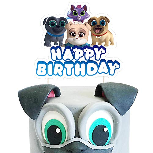 Dog Birthday Puppy Cake - Puppy Dog Pals Cake Toppers - Cute Birthday Cake Decorations Pal Party Supplies - 1 Count
