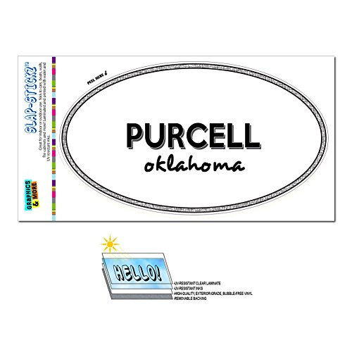 Price comparison product image Graphics and More Euro Oval Window Bumper Laminated Sticker Oklahoma OK City State Mar - Yuk - Purcell