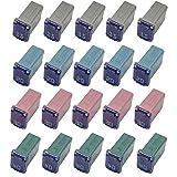 20 Pack Automotive Micro Cartridge Fuses Low-Profile FMM Fuses Kit MCASE Type(5PCS 15Amp 20Amp 5PCS 30 Amp 5PCS 40 Amp)
