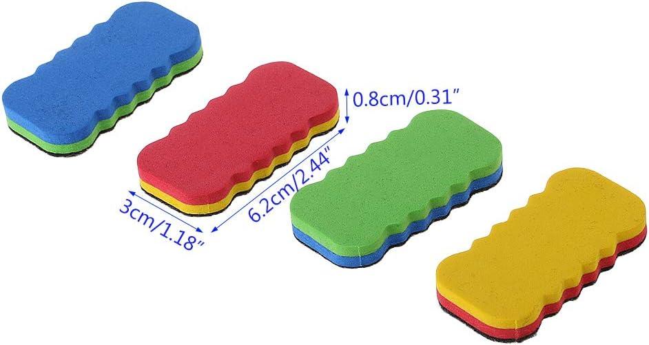 MYA 1Pc Color/é Brosse Effaceur Tableau Blanc,Brosse Effaceur a Sec Tableau Blanc pour Tableau Blanc,Tableau Craie,Tableau Magn/étique,Brosse Effaceur Bureau Fournitures Scolaires Papeterie