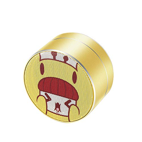 Mini Bluetooth Speaker with HD Sound, [Ultra-Lightweight] Sleek Design, Deeper Bass/Higher Volume, Bluetooth 5.0, Built-in Mic/TF Card Slot, Portable Wireless Speaker for Kids/Car/Girls (Yellow)