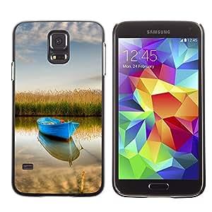 """For Samsung Galaxy S5 , S-type Naturaleza Barco"""" - Arte & diseño plástico duro Fundas Cover Cubre Hard Case Cover"""