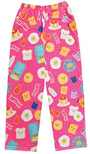 - iscream Big Girls Fun Print Silky Soft Plush Pants - Breakfast Club, Small