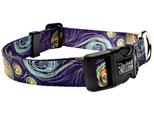 Dutch Dog Amsterdam Eco Friendly Van Gogh Dog Collar, 15 to 20-Inch, Medium