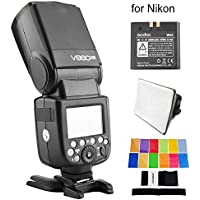 Godox V860N II V860II-N E-TTL HSS 2.4G Build-In Transceiver Li-ion Battery Flash for Nikon With EACHSHOT Color Filters + EACHSHOT Softbox