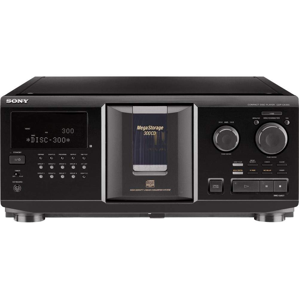Sony CDPCX355 300-Disc MegaStorage CD Changer (Discontinued by Manufacturer) (Renewed) by Sony