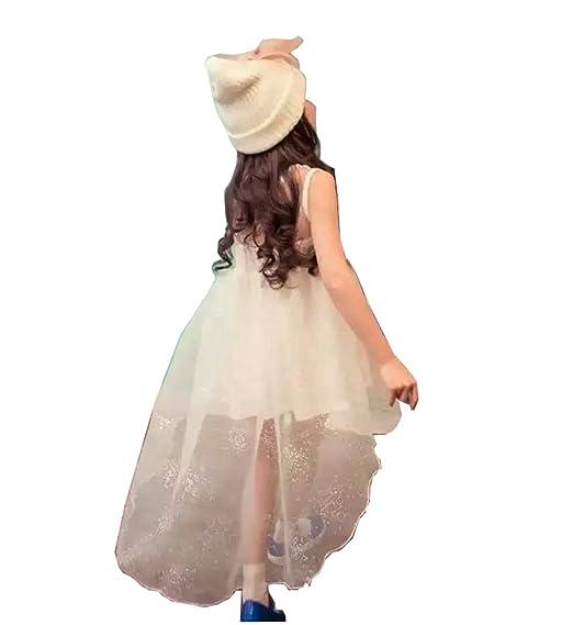 f5f0345eb90c4 JIANGWEI 子供ドレス 女の子 ピアノ 発表会 キッズ プリンセスドレス ワンピース トレーン キッズ フォーマル 子供服