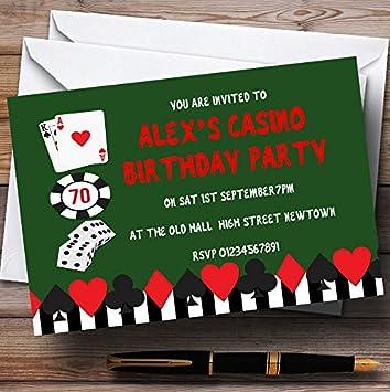 Verde Casino tema personalizado fiesta de cumpleaños ...