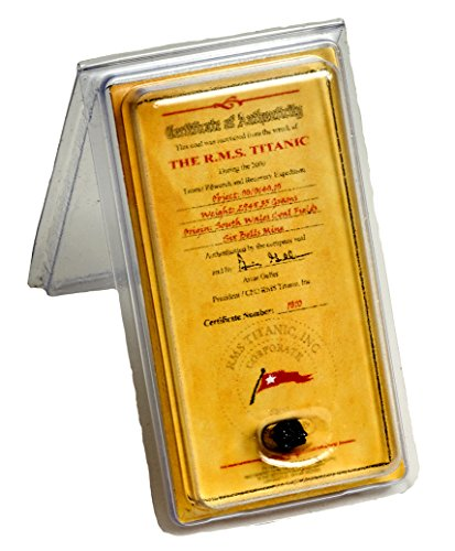 TITANIC COAL WITH CERTIFICATE OF AUTHENTICITY AUTHENTIC MEMORABILIA