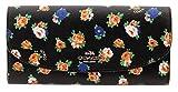 COACH Crossgrain Leather Floral Printed Slim Envelope Wallet (Pink Multi)