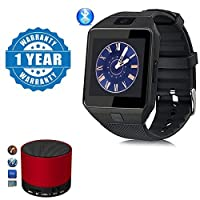 Captcha Black DZ09 Bluetooth Smart Watch With Camera And Sim Card & Sd Card slot With S10 Portable Wireless Bluetooth Speaker Compatible Compatible with Xiaomi, Lenovo, Apple, Samsung, Sony, Oppo, Gionee, Vivo Smartphones (One Year Warranty)