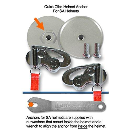 HANS Device Quick Click Helmet Attachment, fitting SA Helmet