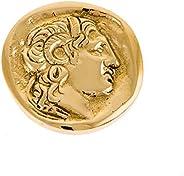 Alexander The Great, Handmade Solid Brass Metal Paperweight (Presse Papier), Diameter: 7.5cm (2.9