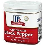 McCormick Ground Pepper Black, 1.5 oz