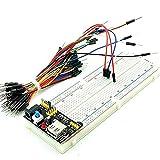 Zorvo MB102 Power Supply Module 3.3V 5V+Breadboard Board 830 Point+65PCS Jumper Cable