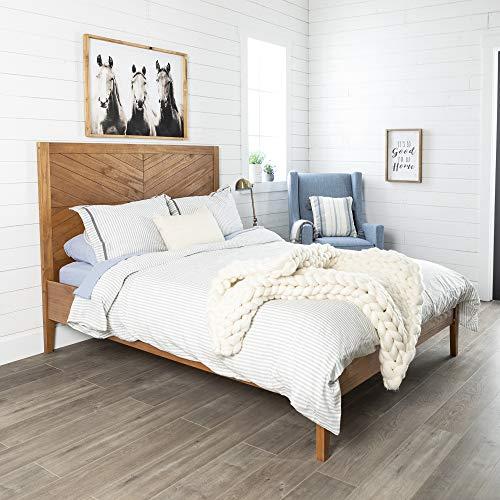 WE Furniture AZWQCHEVCA Queen Bed, Caramel
