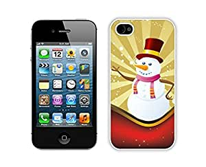 Personalize offerings Christmas snowman White iPhone 4 4S Case 11