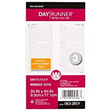Day Runner Weekly Planner Refill 2016, 3.5 x 6.75 Inches Page Size (063-285Y-16)