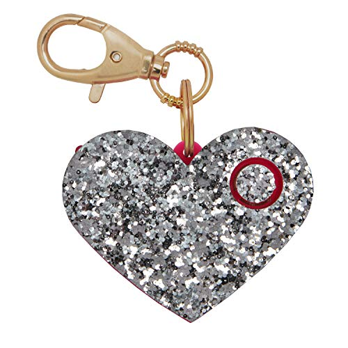 Personal Safety Alarm for Women - Self-Defense Personal Panic Alarm Keychain for Women with LED Safety Light and Clip, Silver Glitter (Best Pepper Spray For A Woman To Carry)