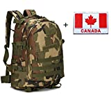 Aidonger Outdoor Military Tactical Hiking Backpack 3 Day Assault Pack Molle Camping Rucksack + Tactical Patch (Army Green)