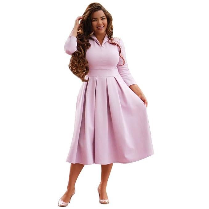 beautyjourney Vestidos Elegantes de Mujer 3/4 Mangas Vestido de Fiesta de la Noche de
