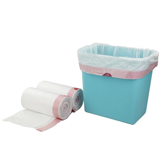 Doryh 2.5 Gallon White Drawstring Trash Bags, 2 Rolls/120 Counts