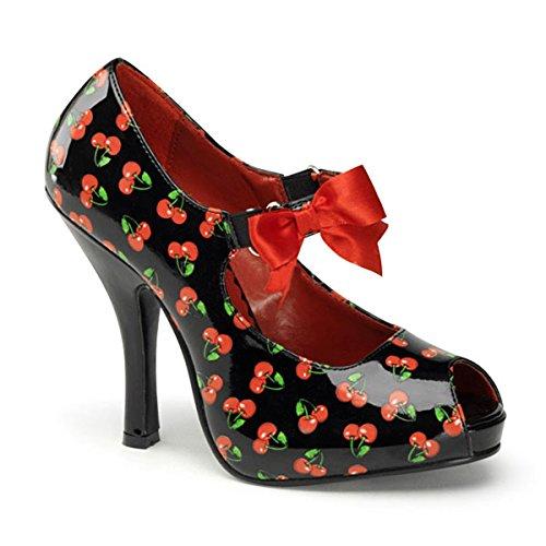 Heels-Perfect - Zapatos de vestir de material sintético para mujer multicolor multicolor negro - Mehrfarbig (Schwarz/Rot)