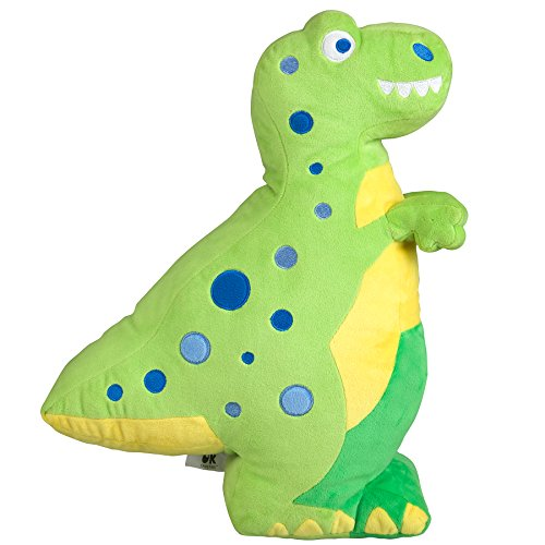 - Wildkin T-Rex Plush Pillow, Super Soft Plush Pillow, Coordinates with Other Bedding and Room Décor, Olive Kids Design
