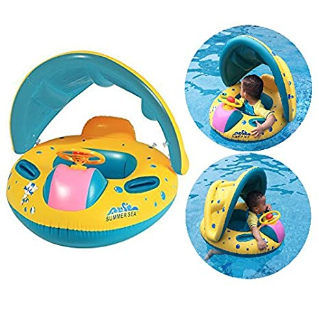 Itian Anillo Con Piscina del Barco Balsa Tubo del Flotador-Sentado, Niño del Bebé