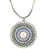 "Mariana ""Cosmo"" Spanish Roundel Pendant Necklace, Silver Plated , 24+4"" 5078L 1055"