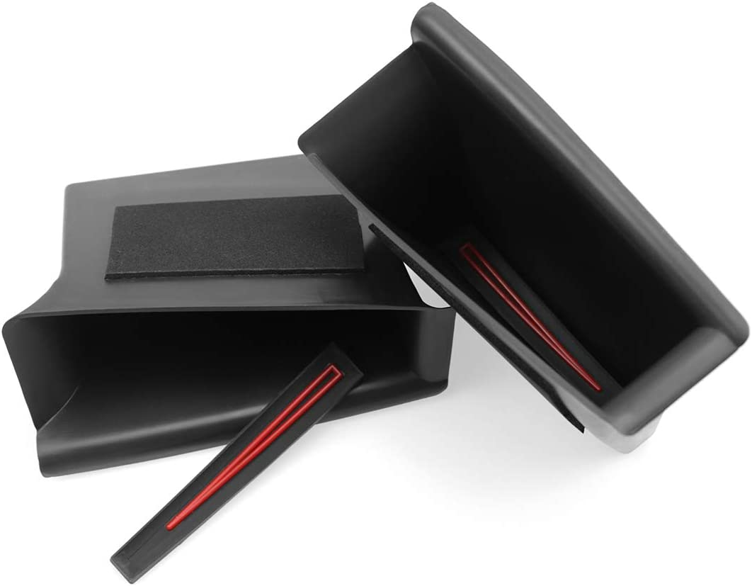 Passenger Storage Tray Organizer Grab Handle Accessory Box for 2019 2020 Mazda 3 Mazda3 Axela Handle Pocket Door Side Pallets Armrest Container Box Cover Kit Trim Handle Pocket 2PCS Front Door