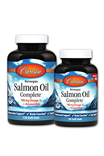 Total Lab Ct (Carlson Salmon Oil Complete, Norwegian, 15 Fatty Acids, 120 + 60 Soft Gels)