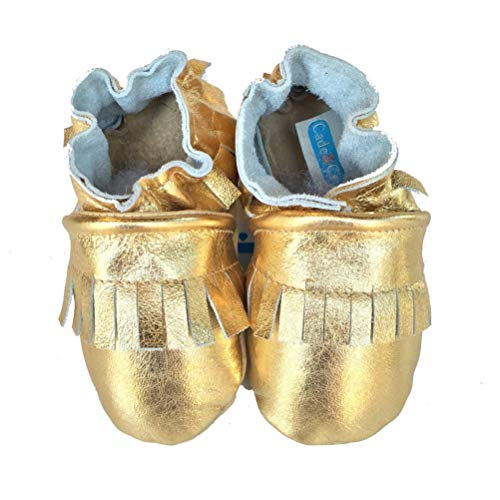 Fringe Mocs (metallic gold)