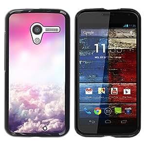 Paccase / SLIM PC / Aliminium Casa Carcasa Funda Case Cover para - Sky Clouds Flying Pink God - Motorola Moto X 1 1st GEN I XT1058 XT1053 XT1052 XT1056 XT1060 XT1055