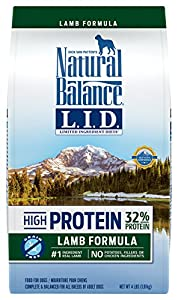 Natural Balance Limited Ingredient Diets High Protein Dry Dog Food, Lamb Formula, 4-Pound